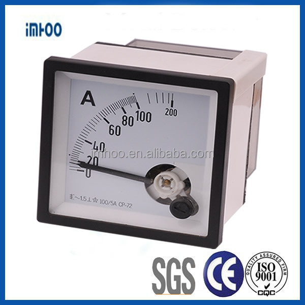 Analog Panel Ammeter 72x72 0-200A electrical meters for testing