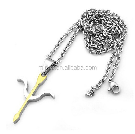 Wholesale Different Types Of Necklace Chains Jewelry, Men Pendant Fashion Gold & Silver Tone Cross Necklace With Gift Case