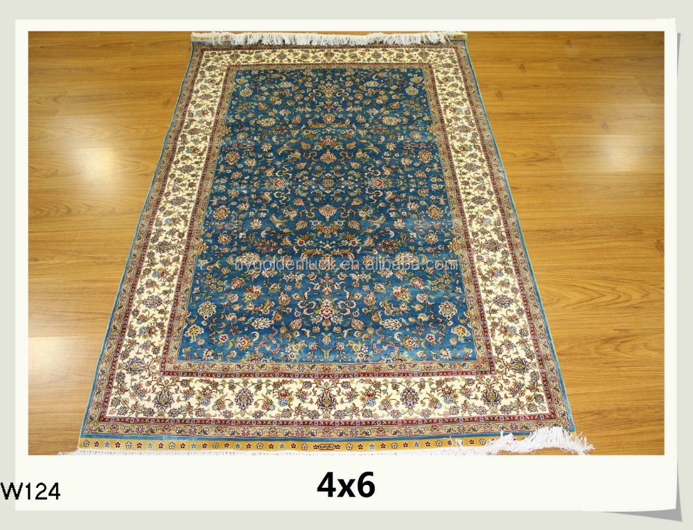 turkish carpet modern rug handmade silk carpet hereke design 4x6 feet