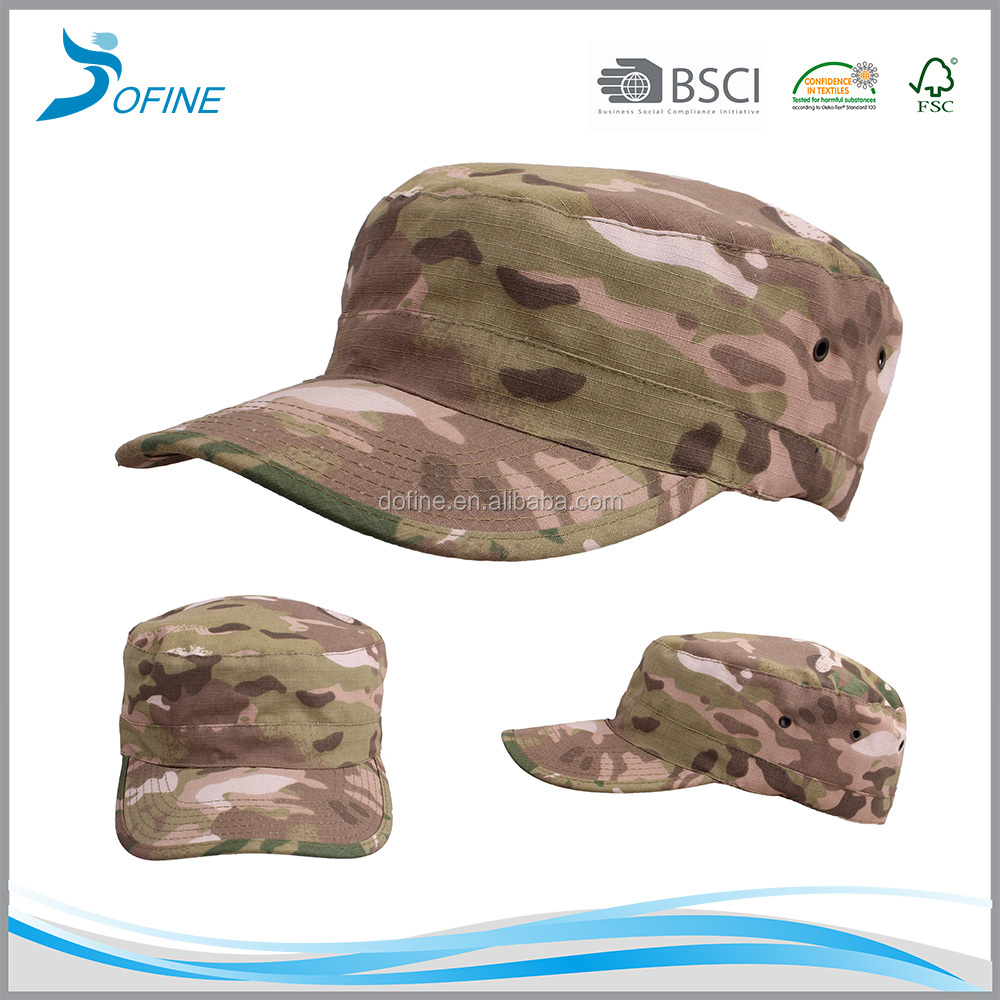 Alibaba China Oem Fashion Flat Roof hunting Military baseball cap Hat