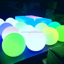 Plastic Material Outdoor Decoration Waterproof Color Changing Led Solar Ball Light