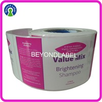 Custom Adhesive Waterproof Logo Bottle Label,Packaging Label Stickers for Shampoo.