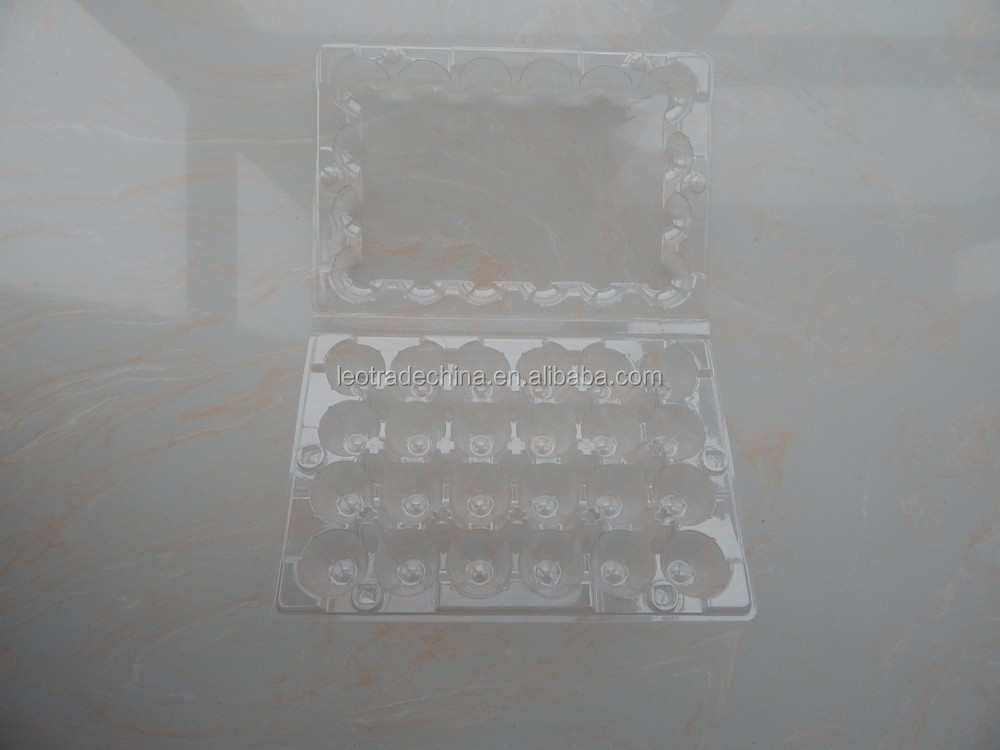 24 quail eggs transparent plastic egg tray