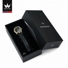 Wholesale Custom Black Cardboard Watch Gift Box Packaging