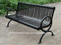 Galvanized Steel, Hot Dipped Zinc Primer Metal Park Bench, OEM Outdoor Steel Seat Public Metal Bench