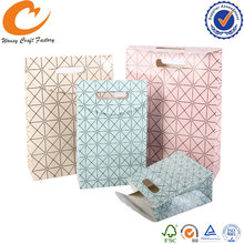 OEM offset printing shopping gift paper bag with velcro closure
