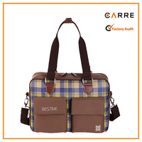 plaid tote messenger travel baby father papa mens diaper bag