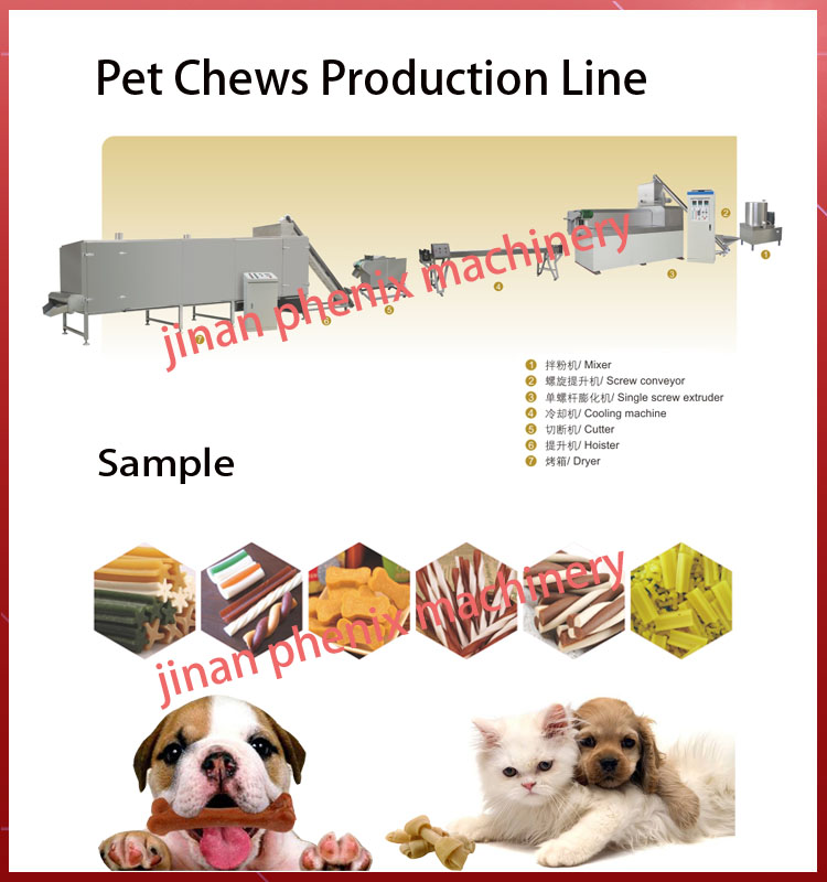 new design pet dog trews treats extruder making machinery