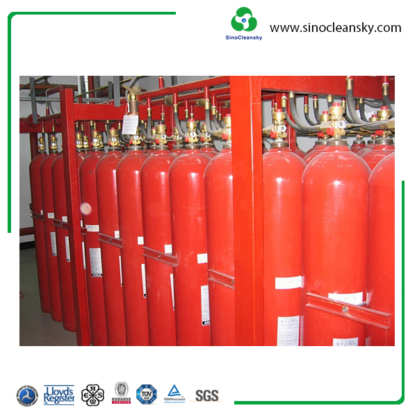 80 Liter High Pressure Steel Seamless Fire Fighting Cylinder