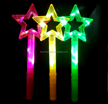 Colorful LED Star Princess Children's Kid's Battery Operated Toy Wand w/ Lights