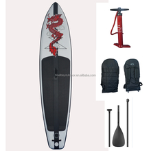 inflatable bamboo sup stand up paddle board with pump