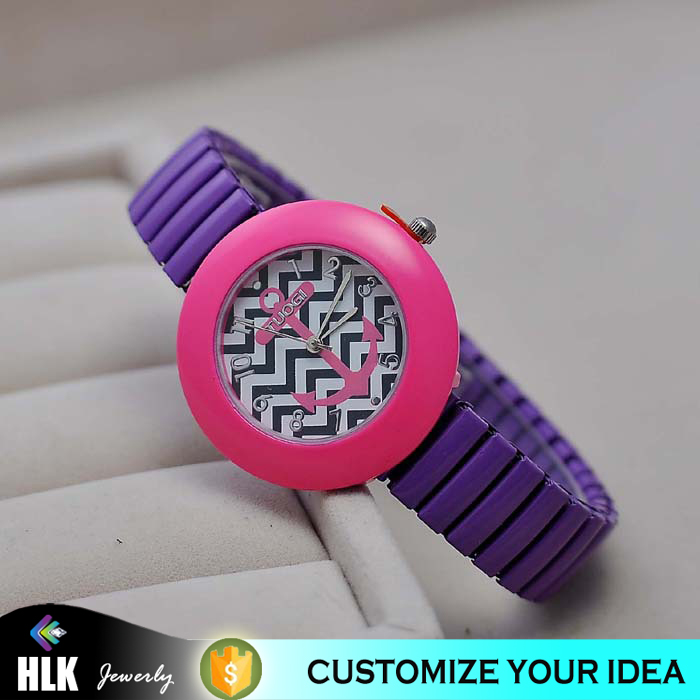 contrast color wrist watch children watch wavy lines patterns