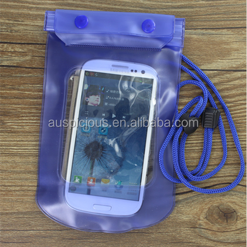 2014 Waterproof Swimming Plastic Mobile Phone Waterproof Bag For Iphone