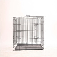 Dog Cage with Wheels and Handle Chain Link Portable Modular Fence Dog Cage