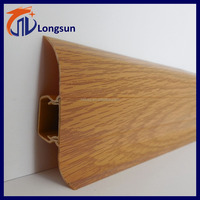 Longsun brand waterproof plastics skirting board covers for laminate flooring