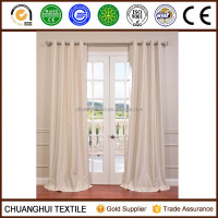 Textured Dupioni Faux Silk 96-inch Blackout Grommet Curtain Panel Mult Colors