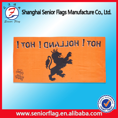 custom Flying Style and Advertising Usage promotional poly cloth banner Material roll up banner
