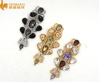 crystal stone chain lady shoe accessory for flat sandal,sew on rhinestone crystal ab for shoes accessories,