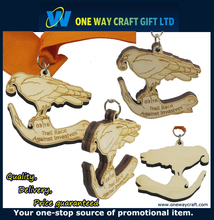 Wooden crafts engraving wooden medals wood medal for sports awards