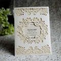 Golden handmade 10inch wedding invitation card greeting card supplier