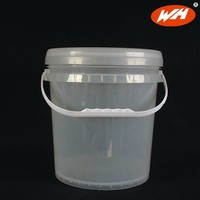 10L Clear Plastic Bucket With Lid