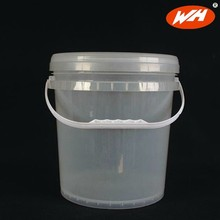 10L clear plastic bucket with lid and handle, paint bucket, paint pail