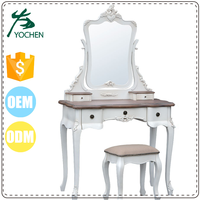 french country shabby chic mirror dressing table