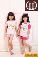 Oem Short Sleeve Pink Children Creative Odile Cotton Spandex Ice Cream Breathable Summer Girls Boutique Clothing