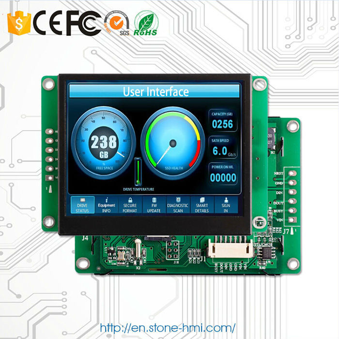 3.5 inch capacitive touch screen with lcd display and high brightness