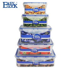 Reusable Stackable Plastic Food Storage Containers for Food