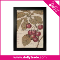 Customized fashion wall painting fruit pictures with PS Frame