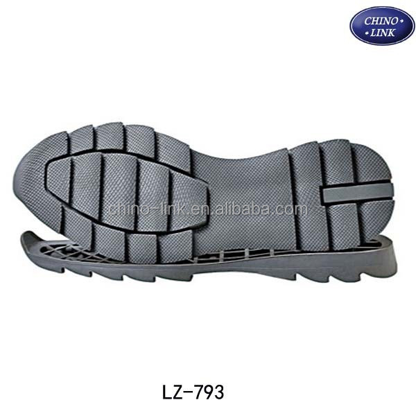 Folding endurance non-slip raw rubber shoe sole material