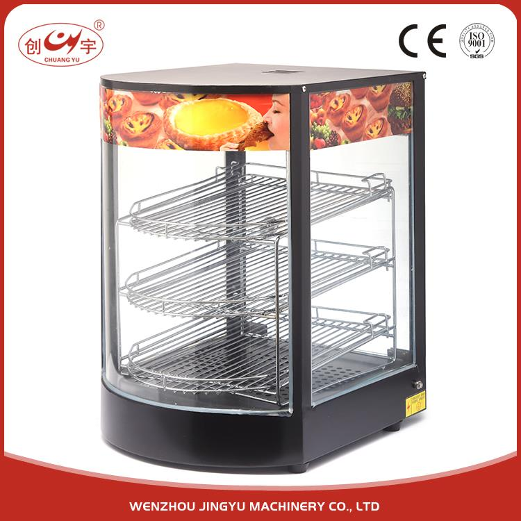 Chuangyu Super Quality Cheap Price Counter Top Auto Hot Food Display Warmer Showcase