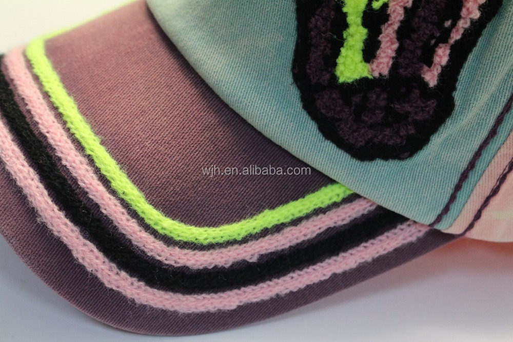2017 New Arrival Fashion Unique Baseball Cap Hat With Towel Material Embroidery