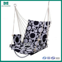 Hanging indoor soft fabric free standing hammock chair
