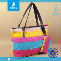 pvc coated cotton shopping bag