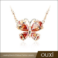 OUXI brand top designer Champagne butterfly fashion name jewelry
