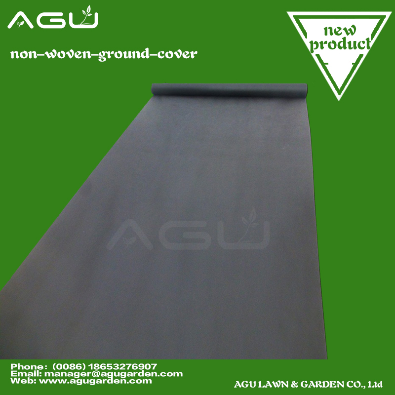 black plastic weed control ground sheet cover from china factory