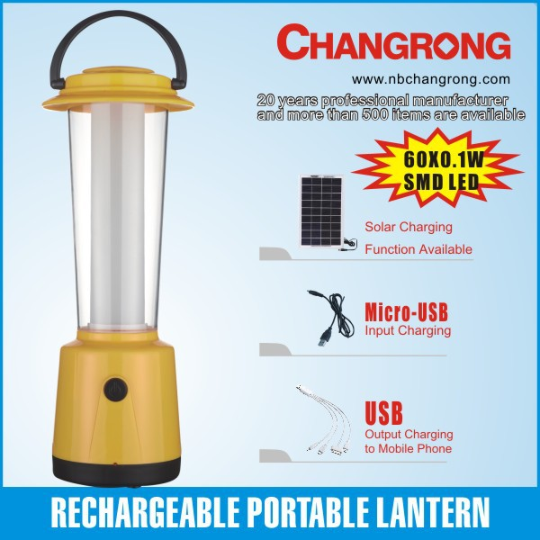 Rechargeable led camping lantern solar led light portable