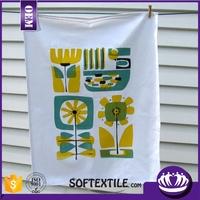 promotional 100% cotton printed velour kitchen tea towel in bulk