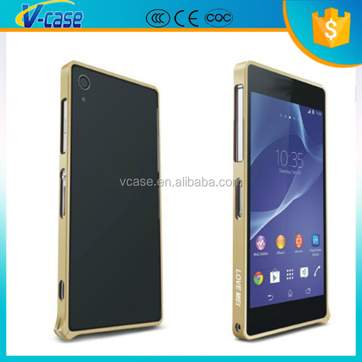 Ultrathin Aluminum Metal Bumper Back Cover Case For Sony Xperia Z2 L50W