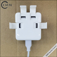 High speed 5v 3 amp 4 usb port ac power wall charger for cellphone