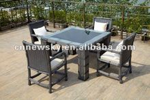 outdoor garden furniture PE round rattan dining room furniture