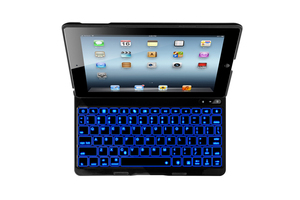 New Arrival 7 Color Backlighting Flip PU+Aluminum Hard Backlit Bluetooth Keyboard Case for iPad 4 2 3 The New iPad