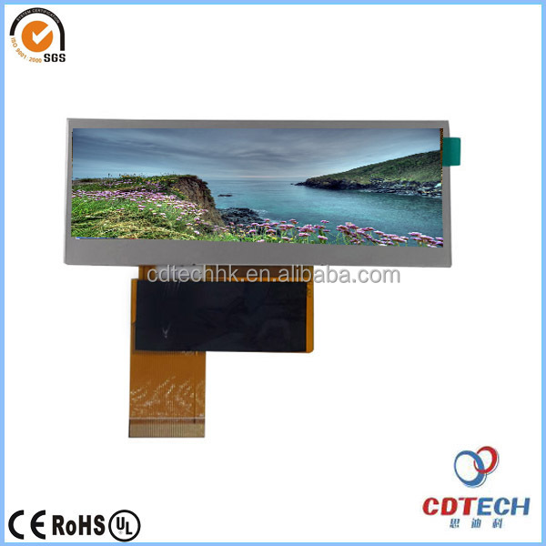 washing machine 3.9'' tft type bar lcd screen with resolution 480x128