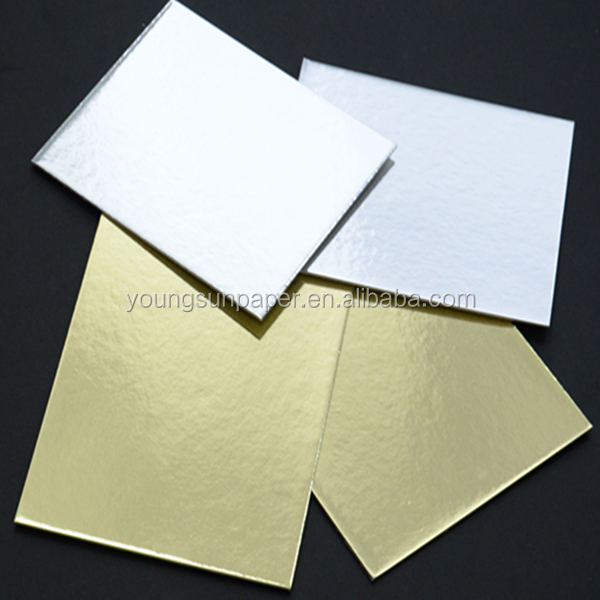 grey board paper/gold silver cake boards in sheets