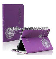 New Arrive Dandelion Stand Smart Leather Skin Folio Stand Cover Case for Apple iPad Mini