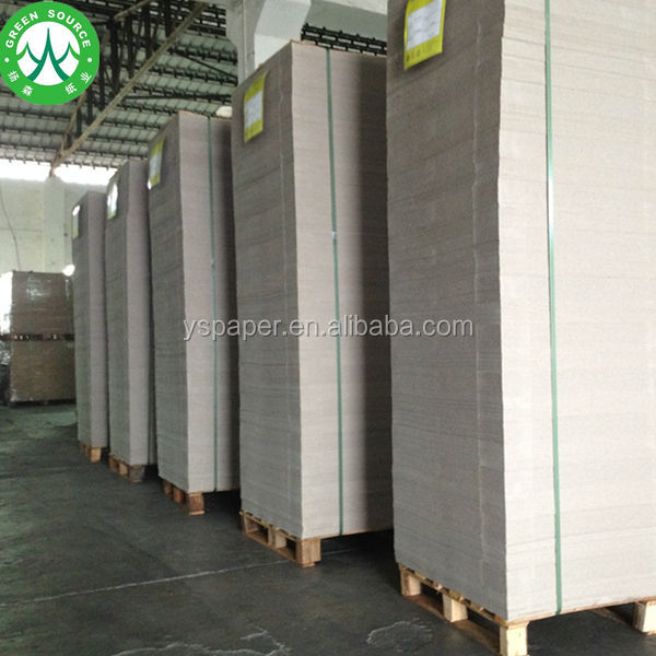 White Clay Coated Carton Duplex Board with Grey Back in Sheets
