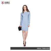 Superior fabric new winter knitting model tight sweater dress