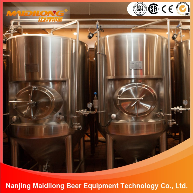 Large Cooling Jacket Stainless Steel Beer Fermentation Tanks For Sale